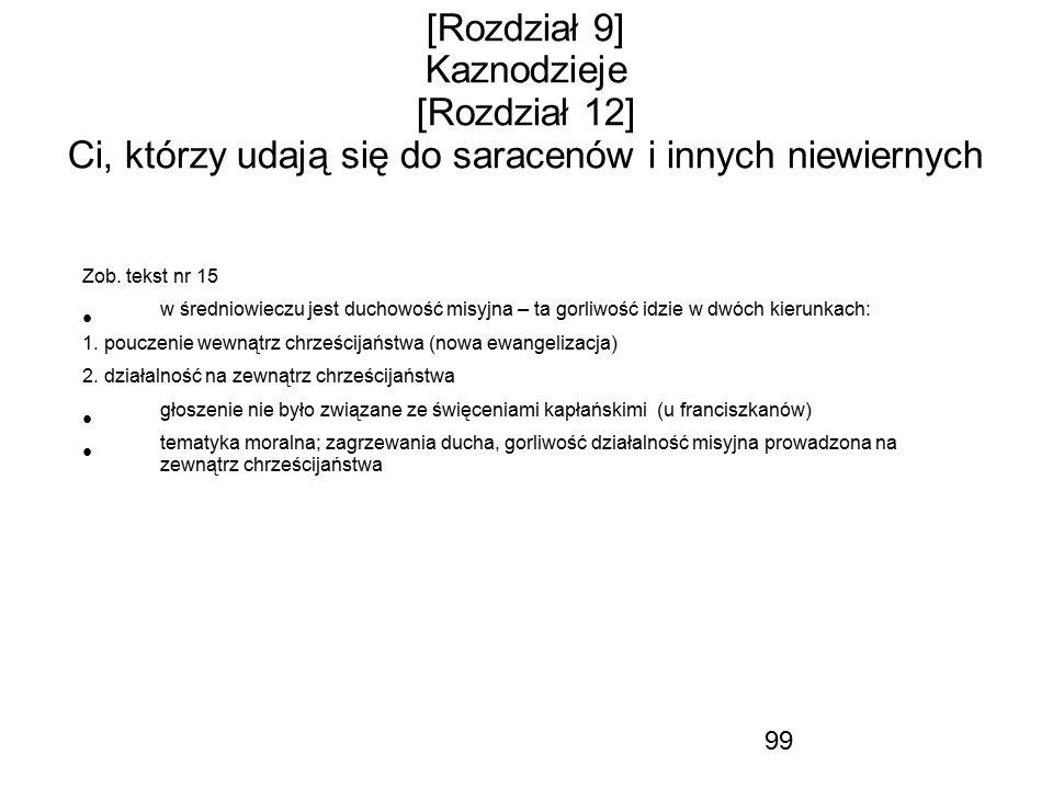 [Rozdział 9] Kaznodzieje [Rozdział 12] Ci, którzy udają się do saracenów i innych niewiernych